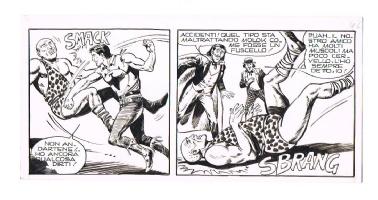 FRANCO DONATELLI - striscia inedita da ZAGOR n.66 (Zenith 117)  MAGIC BAT  Comic Art