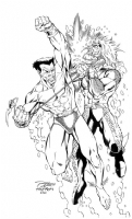 Namor vs. Aquaman Comic Art