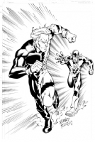 Flash vs. Quicksilver Comic Art