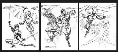 Continuity Heroes Comic Art