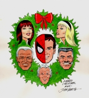 JOHN ROMITA 2008 CHRISTMAS CARD ART, Comic Art
