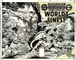World's Finest 255 Cover Comic Art
