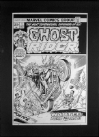 Ghost Rider 1 cover Comic Art