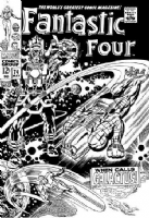 Fantastic Four 74 cover Comic Art
