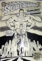 Superman 201 cover Comic Art