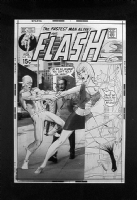 Flash 203 cover Comic Art