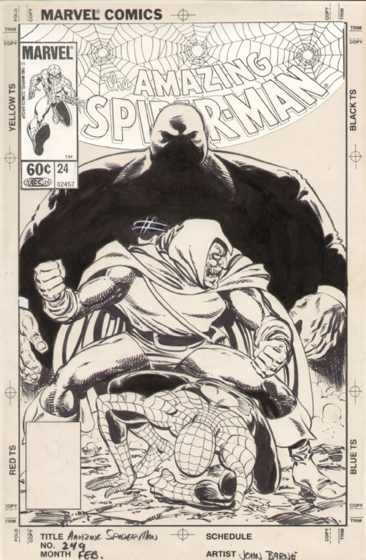 Spiderman 249 cover Comic Art