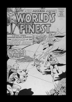 World's Finest 135 cover Comic Art