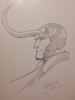 Loki sketch by Jay Anacleto Comic Art