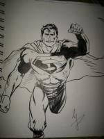 Superman Sketch after Lee Weeks Comic Art