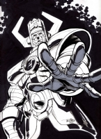 Scott Dalrymple drawing of Galactus Comic Art