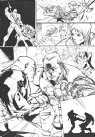 Cable Issue 24 Page 21 by Ale Garza (Cable, Bishop, Hope Summers), Comic Art