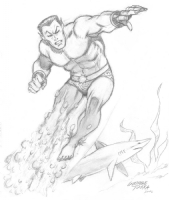 Sub-Mariner Sketch Comic Art