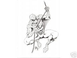 Spider-Man pin up  by Steve Epting Comic Art