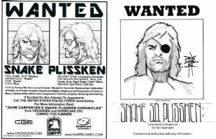 Snake Plissken Wanted Poster with flyer Comic Art